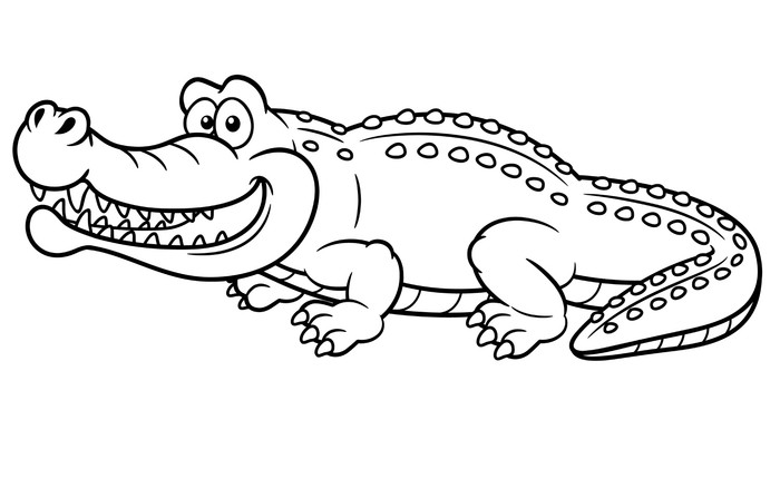Vinilo Pixerstick Ilustración de cocodrilo de dibujos animados ...