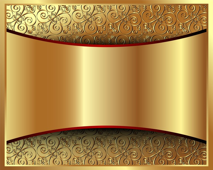 Metallic Gold Background With A Pattern 2 Wall Mural