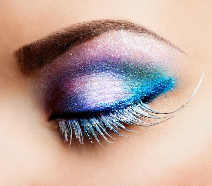 Onwijs Eye Makeup. Beautiful Eyes Glitter Make-up Wall Mural • Pixers VS-65