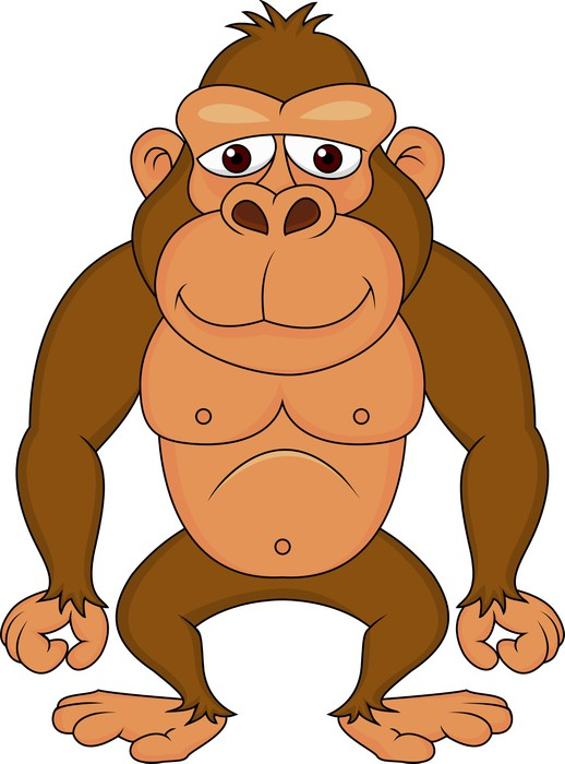 Vinilo Pixerstick Lindo gorila de dibujos animados • Pixers ...