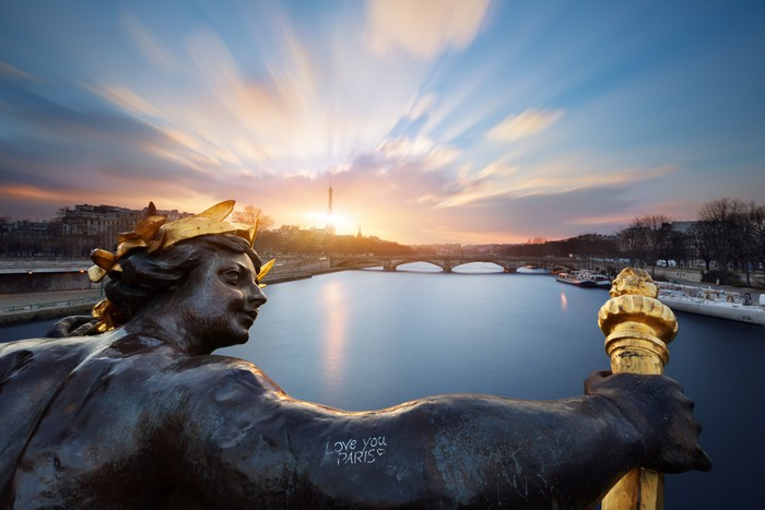 Vinylová Tapeta Paříž Pont Alexandre III, Paříž - Evropská města