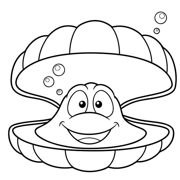 Vinilo Pixerstick Ilustración de dibujos animados shell - Libro para ...