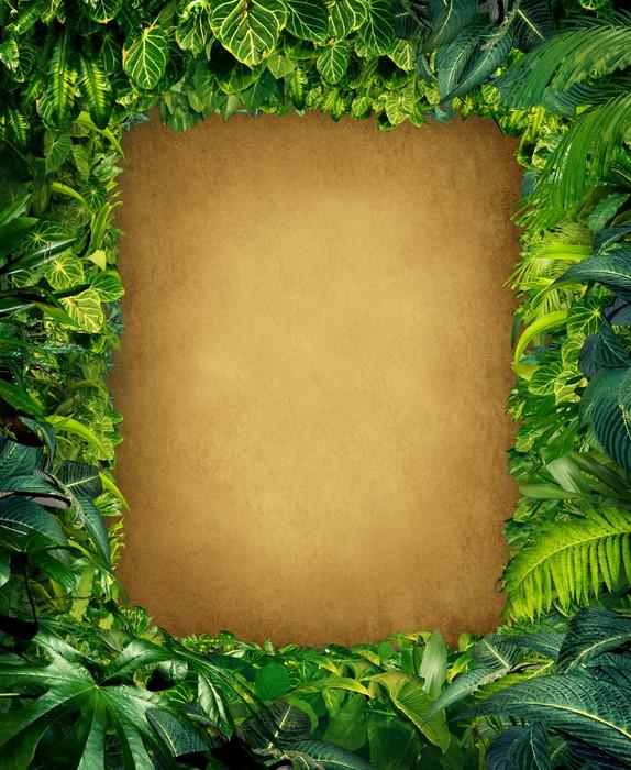 Vinylová Tapeta Wild Jungle Frame - Rostliny