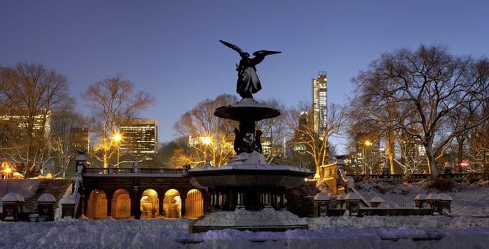 Vinylová Tapeta Panoramatické Bethesda fontána v Central Parku v New Yorku po sn - Americká města