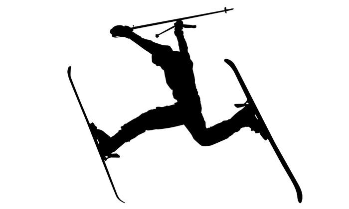 Vinylová Tapeta Akce lyžař siluetu - Zimní sporty