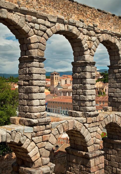 Vinylová Tapeta Slavný starověký akvadukt Segovia, Španělsko - Evropa