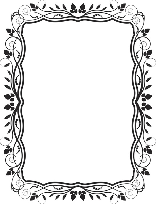 floral frame Wall Mural • Pixers® • We live to change