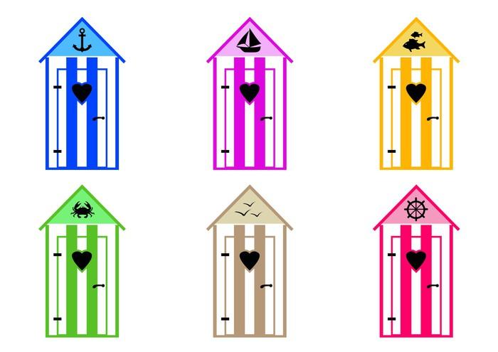 papier peint cabine de plage couleurs pixers nous vivons pour changer. Black Bedroom Furniture Sets. Home Design Ideas