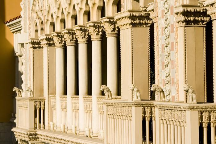 Vinylová Tapeta Benátské Sloupce Style Balkón - Památky