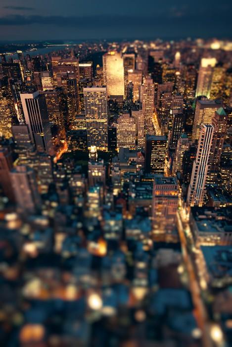 Carta da parati new york city di notte con soft focus for Carta da parati new york ebay