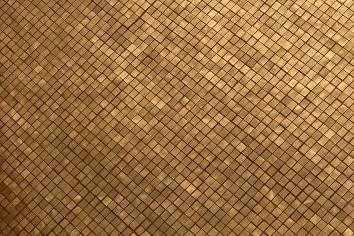 Parete Doro : Adesivo la parete in mosaico d oro nel grand palace thailandia