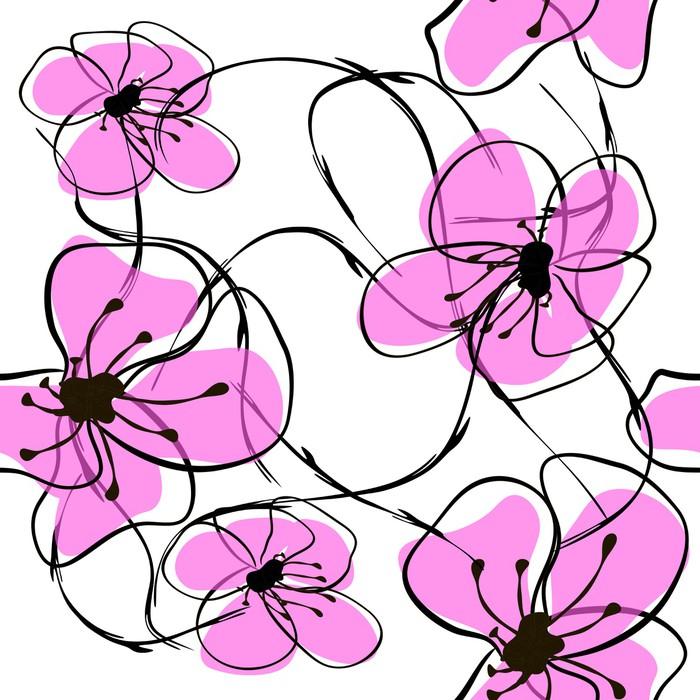 Vinylová Tapeta Květina sacura - Květiny