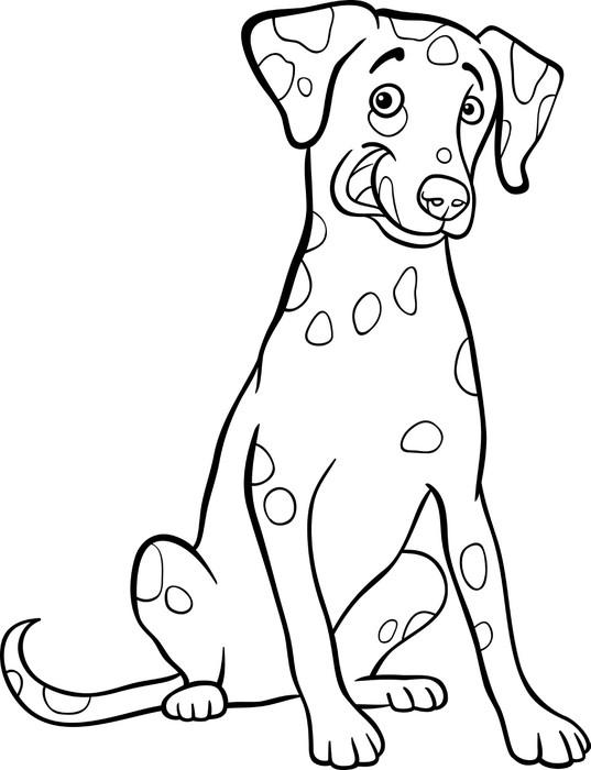 Vinilo Pixerstick Historieta perro dálmata para libro para colorear ...