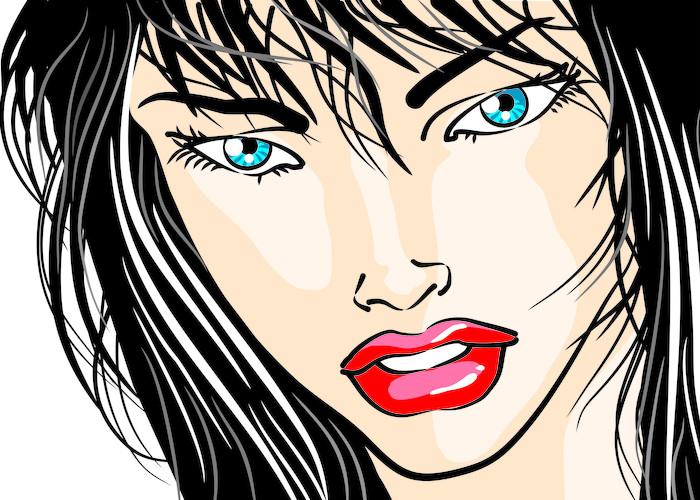 papier peint visage de femme en gros plan bd pixers nous vivons pour changer. Black Bedroom Furniture Sets. Home Design Ideas
