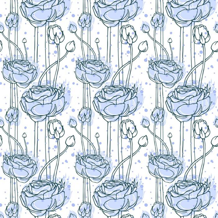 Vinylová Tapeta Seamless patern Ranunculus - Mír