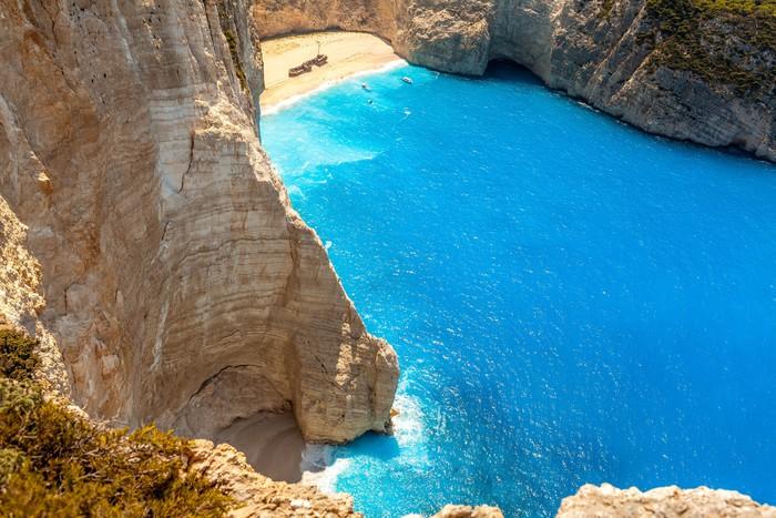 Vinylová Tapeta Amazing pláž Navagio na ostrově Zakynthos, Řecko - Evropa