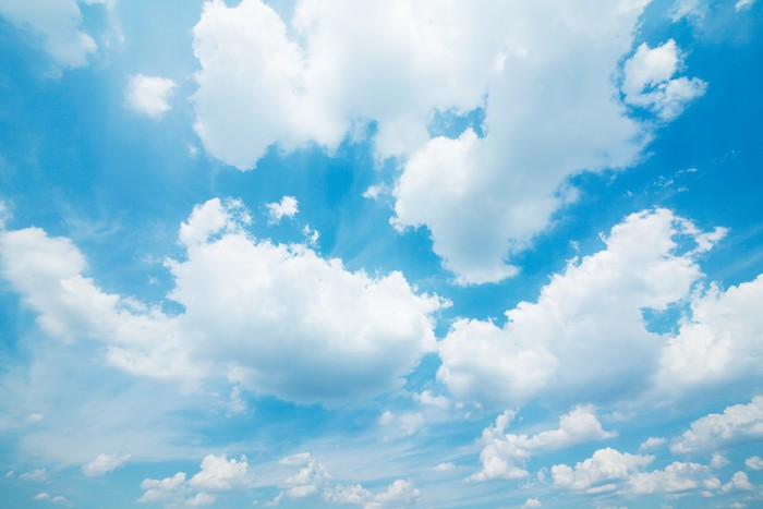 Vinylová Tapeta Modrá obloha - Nebe