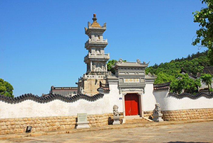 Vinylová Tapeta Putuoshan, Puji chrám scénický prostor, Duo Bao pagoda - Asijská města