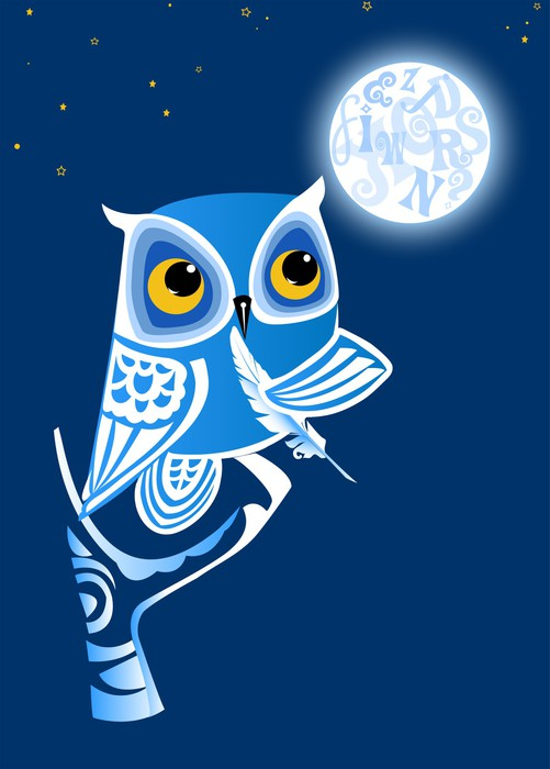 Night Owl Writer Sticker • Pixers® • We live to change