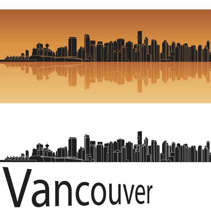 Vancouver Skyline Wall Mural Pixers 174 We Live To Change