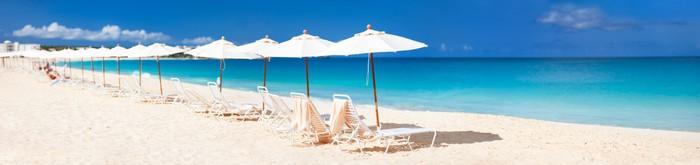 Vinylová Tapeta Panorama krásné karibské pláži - Prázdniny