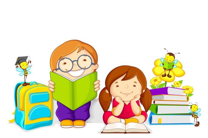 Resultado de imagen de niños estudiando con libros
