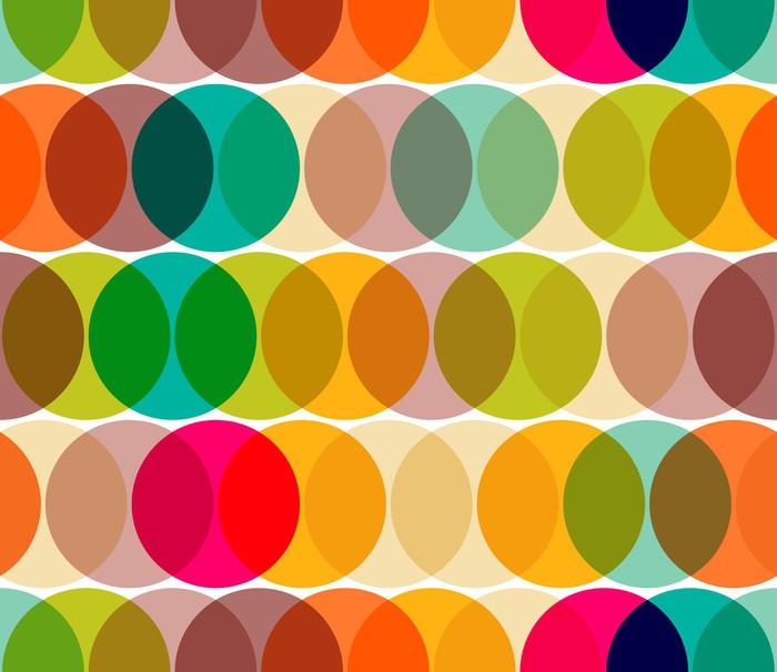 Papier Peint Vinyle Géométrique abstrait cercle seamless - Géométrie