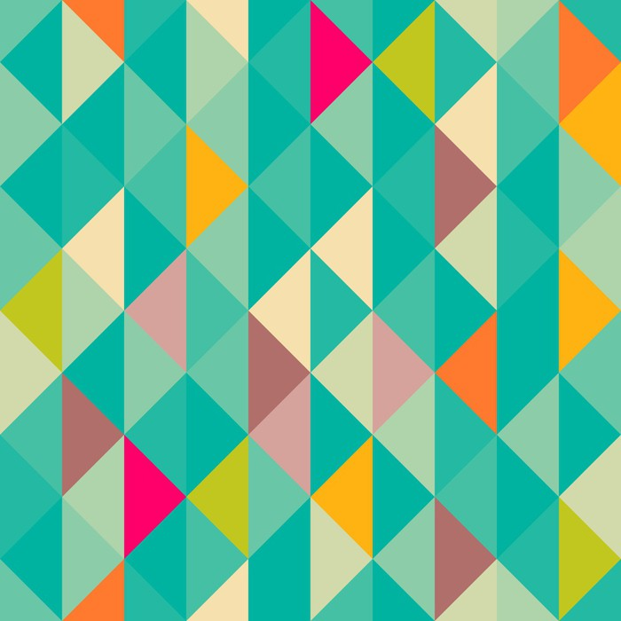 Abstract Geometric Seamless Pattern Wall Mural Pixers