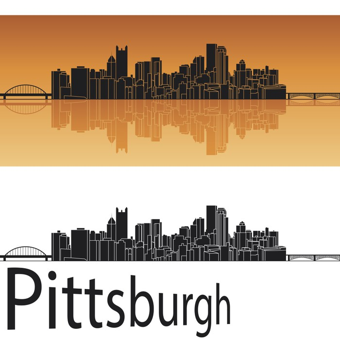Pittsburgh Skyline Wall Mural Pixers We Live To Change