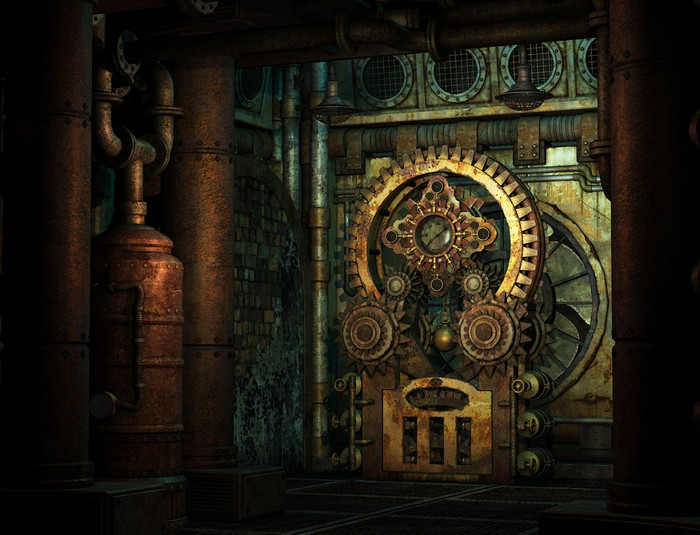 Steampunk Wheelwork Wall Mural Pixers 174 We Live To Change