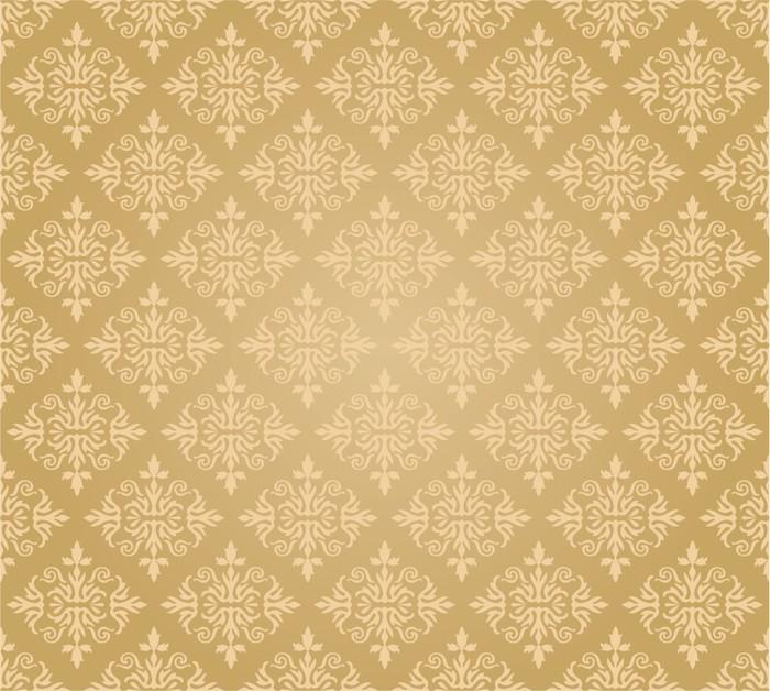 Papier peint losange papier peint fleurs d 39 or - Papier peint losange ...