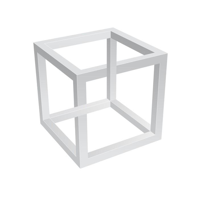 Vinylová Tapeta Escher Cube - Aplikované a přírodní vědy