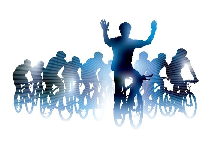 Vinylová Tapeta Cyklistický závod - Skupiny a dav