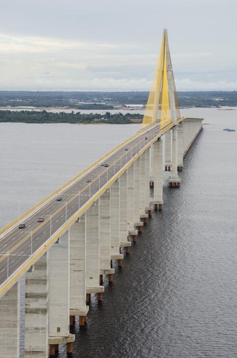 Vinylová fototapeta Manaus Iranduba most přes řeku Negro. - Vinylová fototapeta