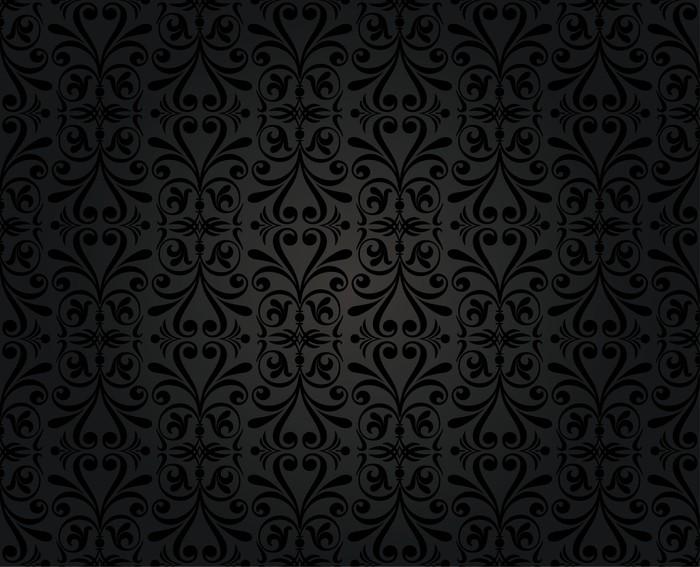 Fotomural dise o vintage papel tapiz de fondo negro - Papel vintage pared ...