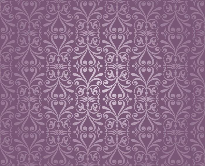 Carta Da Parati Damascata Rosa : Carta da parati viola e argento lusso carta da parati vintage