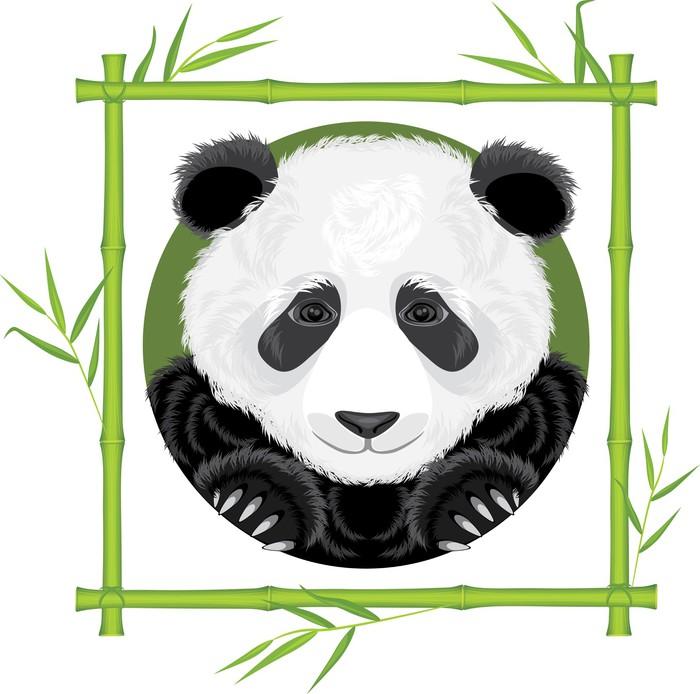 Fototapete Panda im Bambusrahmen • Pixers® - Wir leben, um zu verändern