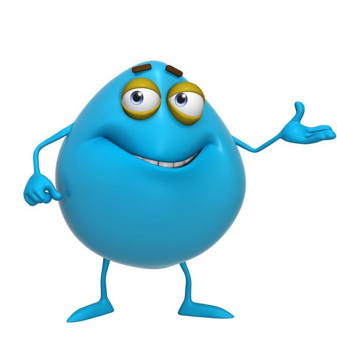 Quadro su tela d cartone animato mostro blu pixers