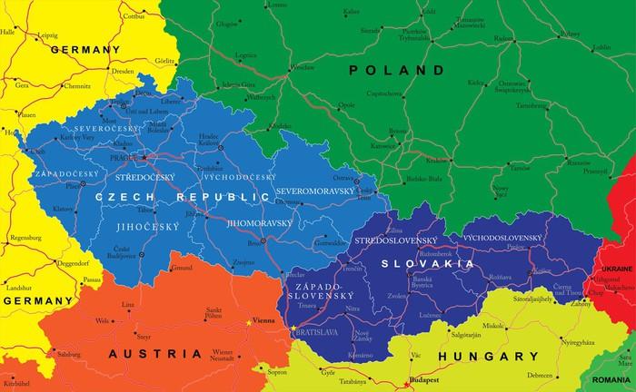 slovakien karta Fototapet Tjeckien och Slovakien karta • Pixers®   Vi lever för  slovakien karta