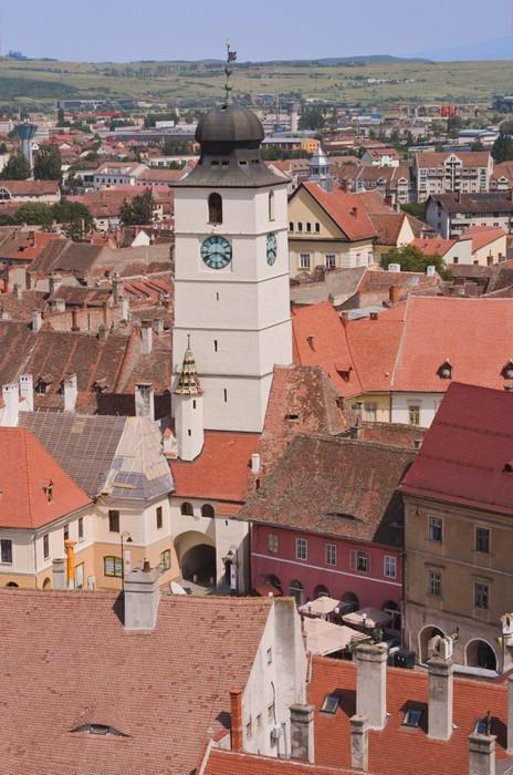 Vinylová fototapeta Rada Tower-Sibiu, Rumunsko - Vinylová fototapeta