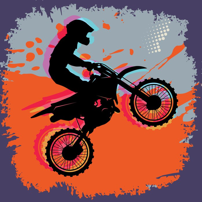 Motocross abstract background vector illustration Wall Mural