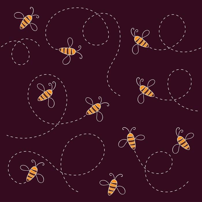 Vinylová Tapeta Bee vzor - Ostatní Ostatní