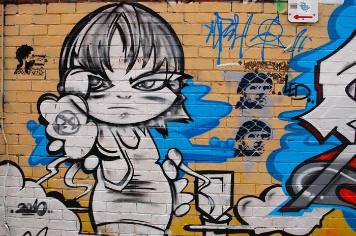 fototapete graffiti street art wall st dtische pixers wir leben um zu ver ndern. Black Bedroom Furniture Sets. Home Design Ideas