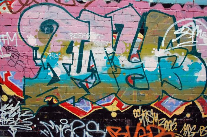 papier peint graffiti street art mur pixers nous vivons pour changer. Black Bedroom Furniture Sets. Home Design Ideas