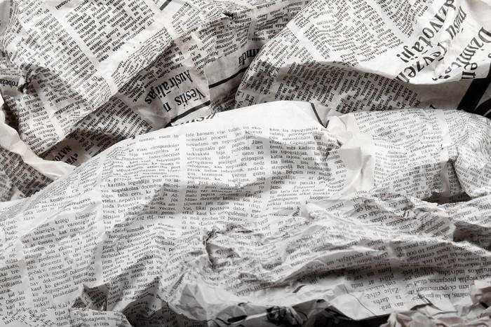 Fotomural Fondo De Periódicos Viejos Arrugados • Pixers
