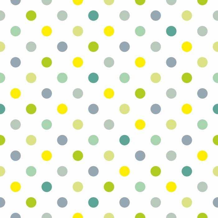 Papier Peint Vinyle Seamless vecteur printemps motif bleu pois de fond blanc - Thèmes