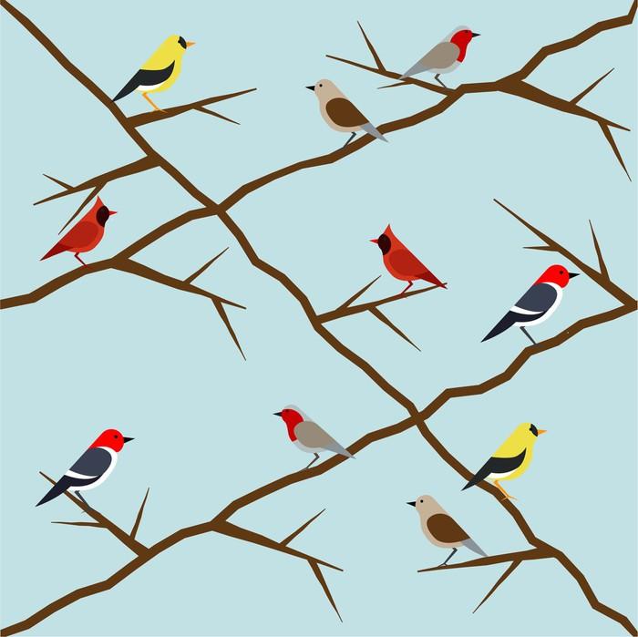 papier peint motif d 39 oiseau pixers nous vivons pour changer. Black Bedroom Furniture Sets. Home Design Ideas
