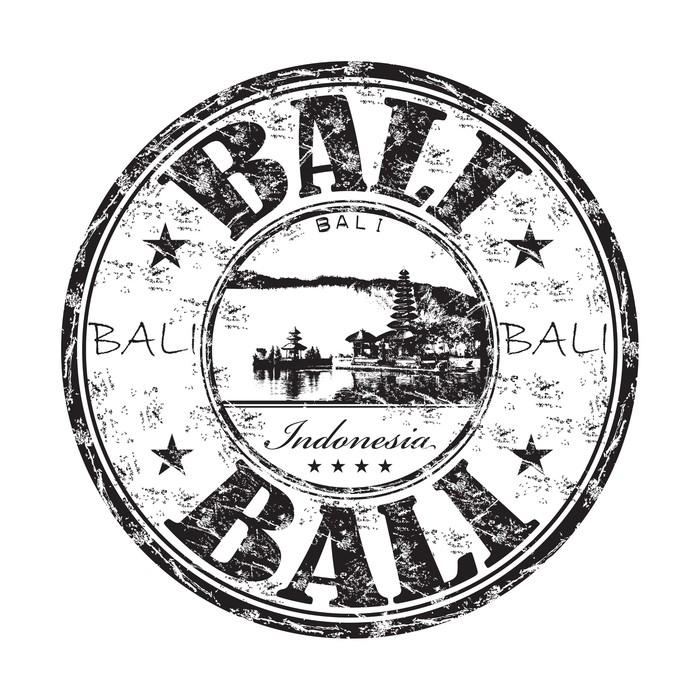 Vinyltapet Bali grunge, gummi, stämpel - Asien