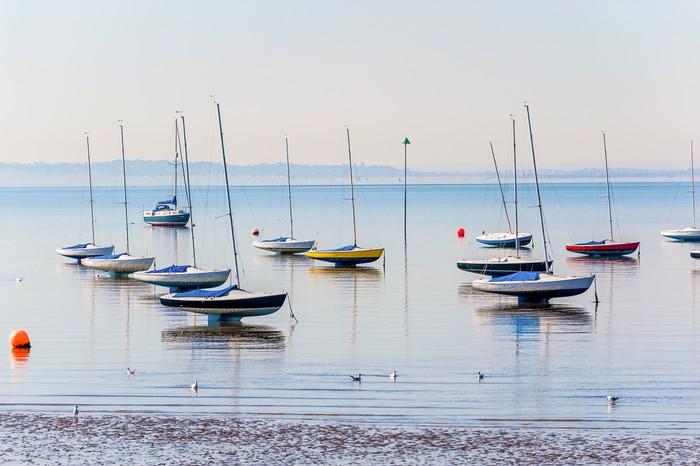 Vinylová Tapeta Essex pobřeží při nízké vodě - Prázdniny