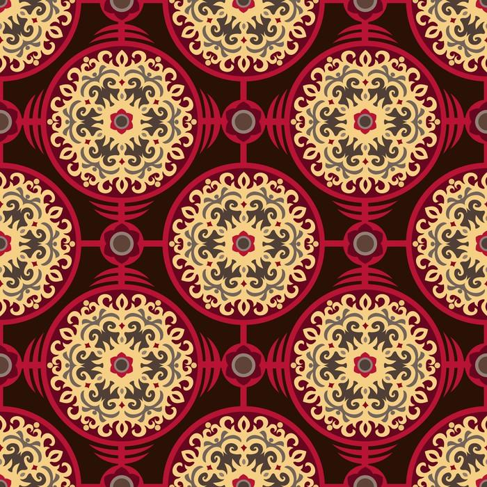 Vinylová Tapeta Orientální Authentic Round ornament bezešvé vzor - Pozadí